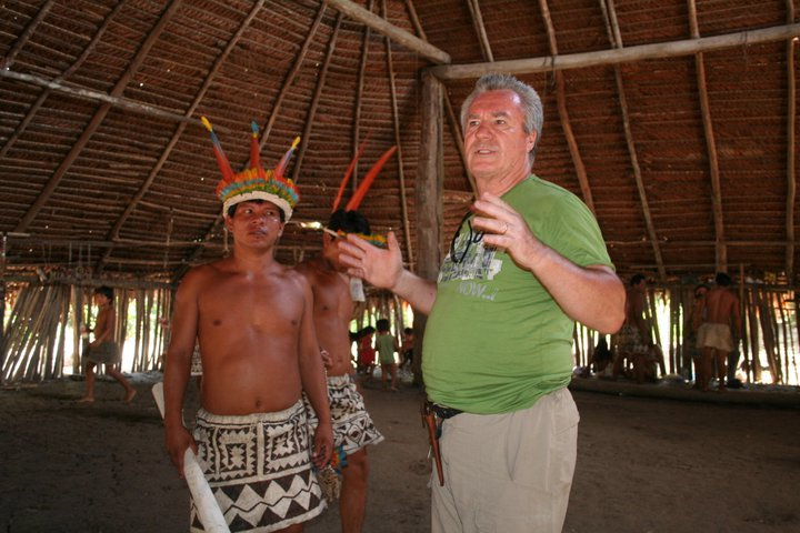 Jim translates the traditional greeting during our welcoming ceremony in Boras.